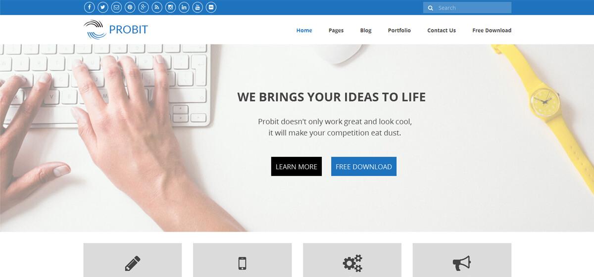 Probit - Free Premium WordPress Theme