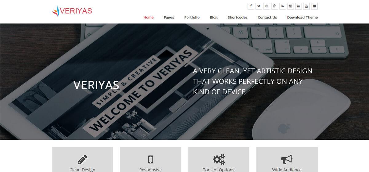 Veriyas - Free Premium Responsive WordPress Theme