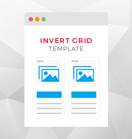 Invert Grid Blog Template