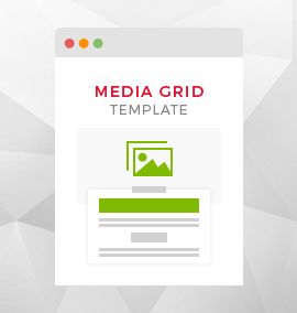 Media Grid Blog Template