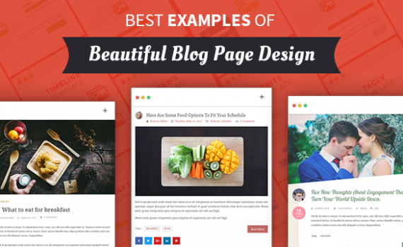 Best Examples of Beautiful Blog Page Design