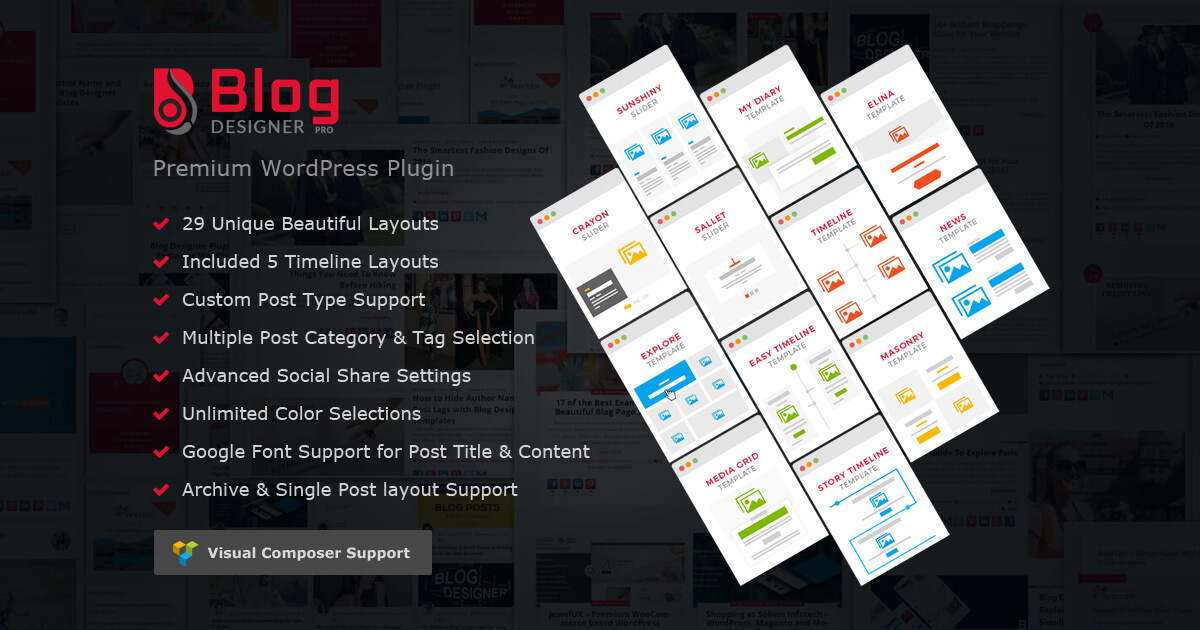 Blog Designer Pro: WordPress Blog Plugin | Custom Blog Design