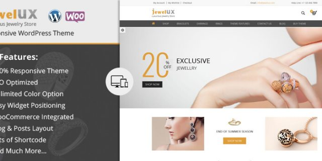 JewelUX - Responsive Premium WooCommerce WordPress Theme