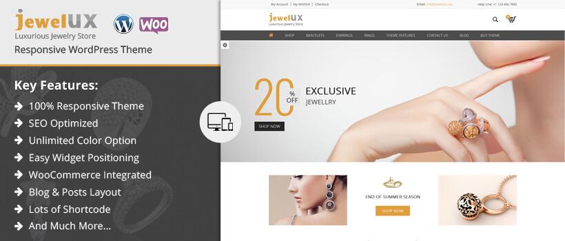 JewelUX - Responsive Premium WooCommerce WordPress Theme