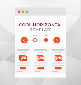 Cool Horizontal Timeline Blog Template