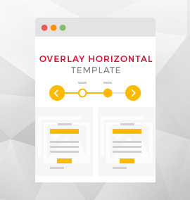 Overlay Horizontal Timeline Blog Template