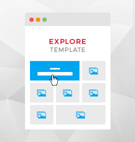 Explore Grid Blog Template