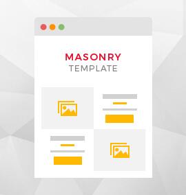 Masonry Timeline Blog Template