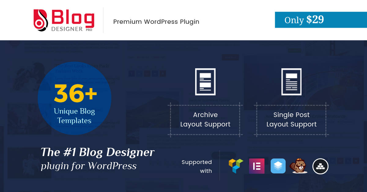 Limited Time Offer, Blog Designer Pro at $29 Only (Expired!)