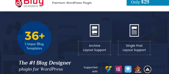 Blog Designer PRO available Only with 29