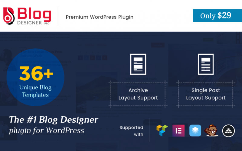 Limited Time Offer, Blog Designer Pro at $19 Only (closed!)