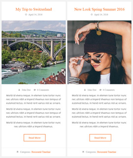 Cool Horizontal Blog Template