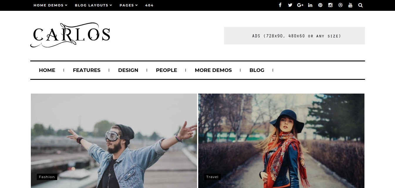 Carlos – WordPress Blog Magazine and Blog Theme