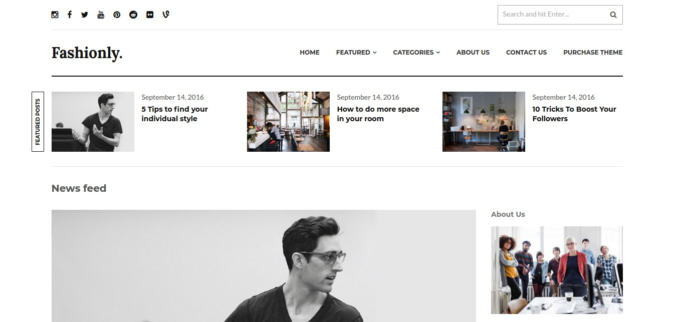 Fashionly – A Responsive WordPress Blog Theme – WordPress theme