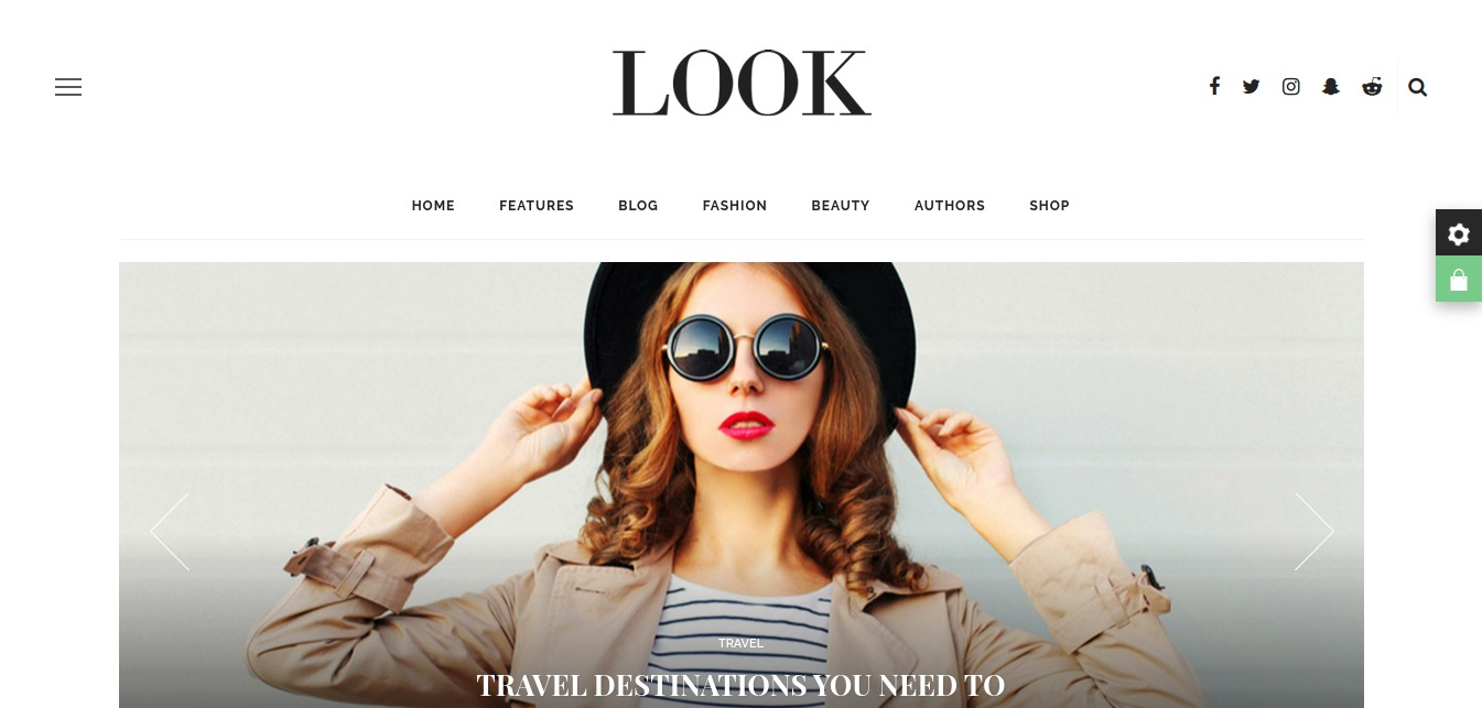 Look – A Fashion Beauty News Magazine Blog WordPress Theme