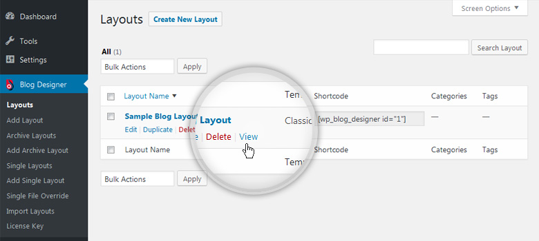 Blog Layouts - View Blog Page