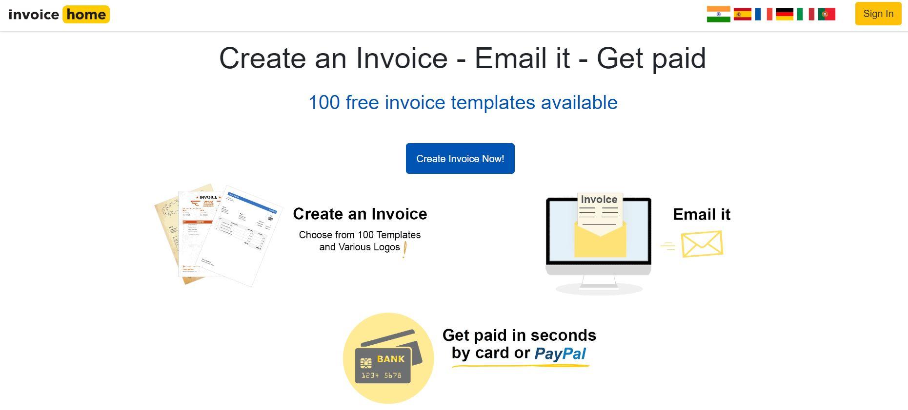 invoice home