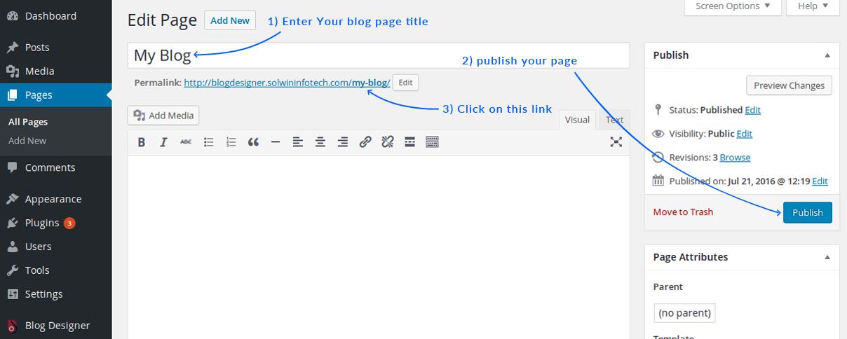 Create Blog Page