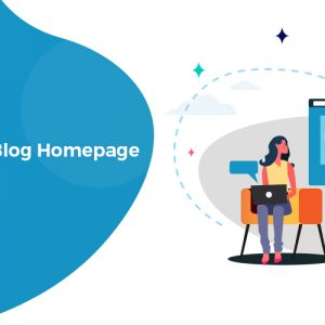 how to design blog homepage