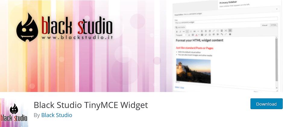 Tiny MCE Widget